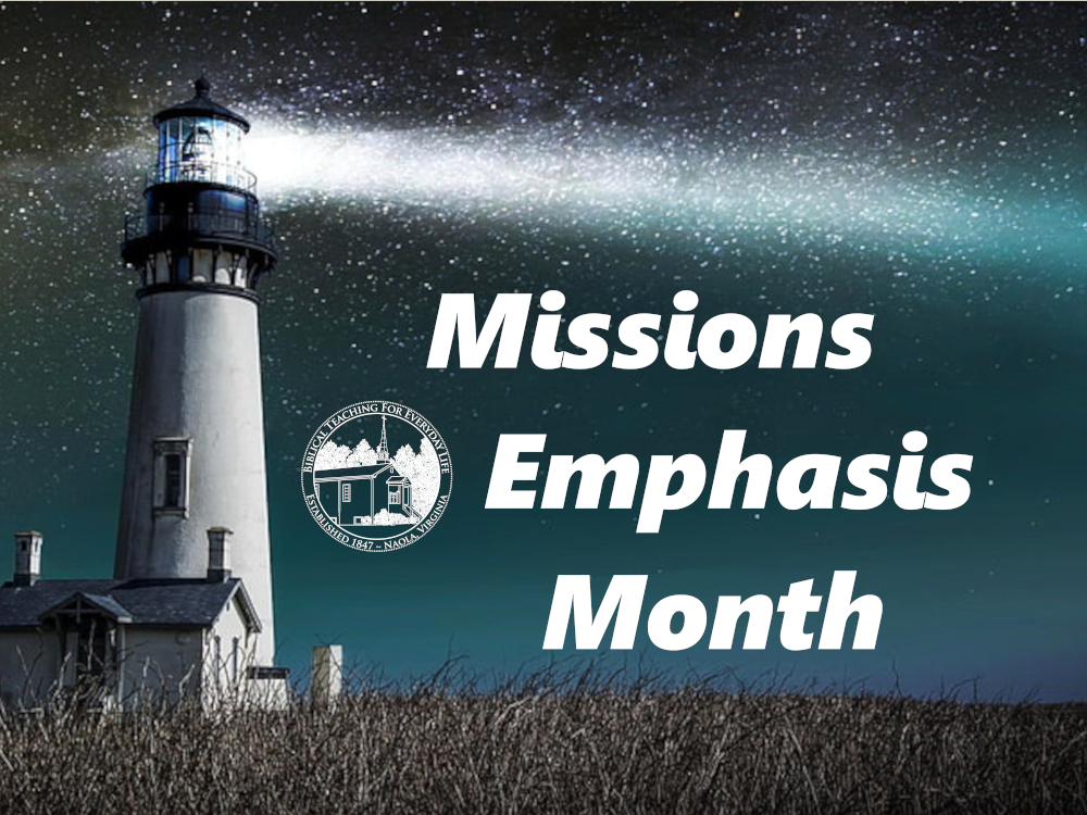 Missions Emphasis Month Banner